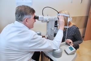 Pracownia laserowa do leczenia jaskry SLT